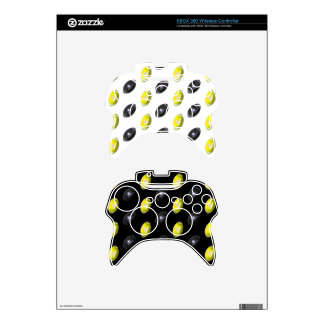Black and Yellow Football Pattern Xbox 360 Controller Skin