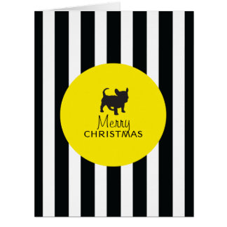 Black and Yellow French Bulldog Greeting Cards