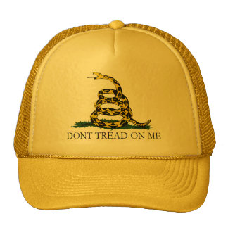 Black and Yellow Gadsden Flag Don t Tread on Me Trucker Hat