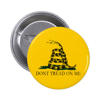 Black and Yellow Gadsden Flag, Don't Tread on Me! Button