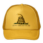 Black and Yellow Gadsden Flag, Don't Tread on Me! Trucker Hat