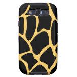 Black and Yellow Giraffe Print Pattern. Samsung Galaxy SIII Cases