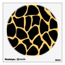Black and Yellow Giraffe Print Pattern. Wall Sticker