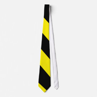 Black and Yellow-Gold Diagonal-Striped Tie