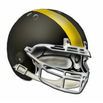 Black and Yellow Gold Football Helmet Ornament