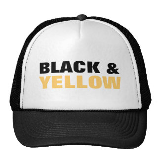 BLACK AND YELLOW MESH HAT
