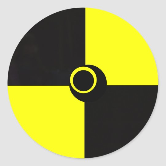Black and Yellow hazard safety sticker