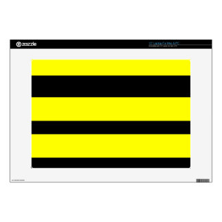 """Black And Yellow Horizontal Stripes Decal For 15"""" Laptop"""