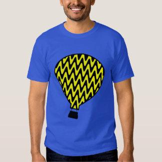 Black and Yellow Hot Air Balloon T-shirt