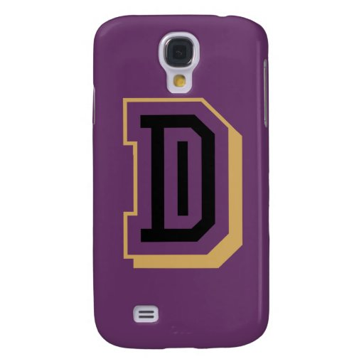 Black and Yellow Letter D Galaxy S4 Cover