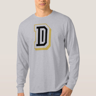 Black and Yellow Letter D T-Shirt