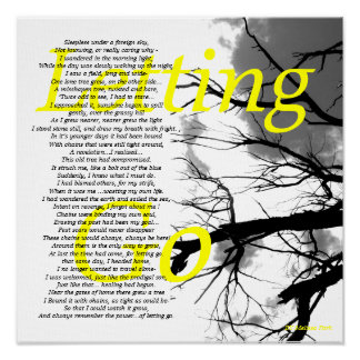 Black and Yellow Letting Poem Poster