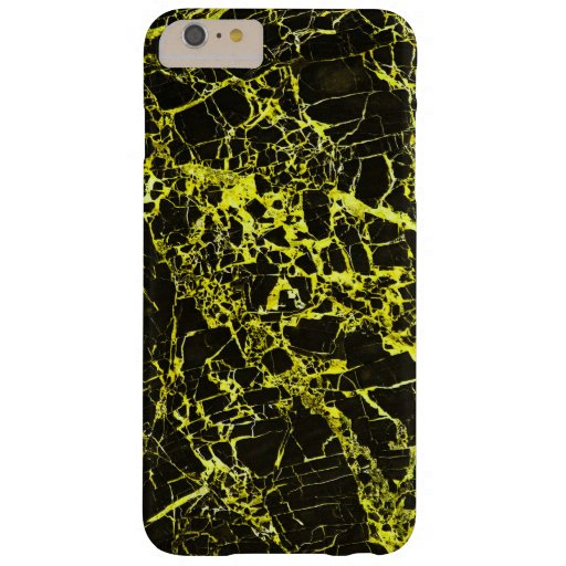 Black and Yellow Marble, Barely There iPhone 6 Plus Case