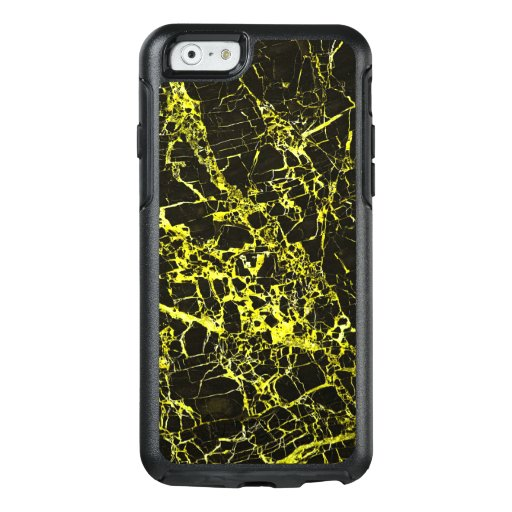 Black and Yellow Marble, OtterBox iPhone 6/6s Case