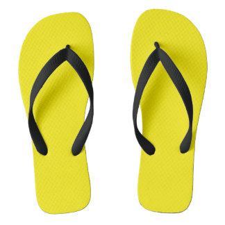 Black and Yellow Mens Sandals Flip Flops