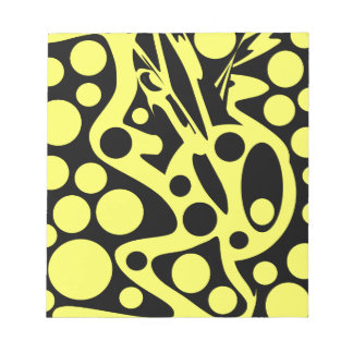 Black and yellow notepad