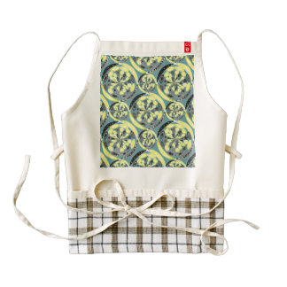 Black and yellow pattern zazzle HEART apron