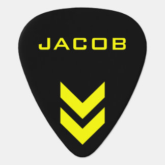 Black and Yellow Personalized Name Pick