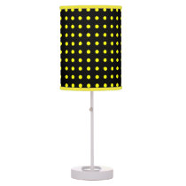 Black and Yellow Polka Dot Shaded Lamp
