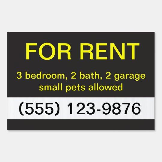 Black and Yellow Real Estate Custom Yard Sign