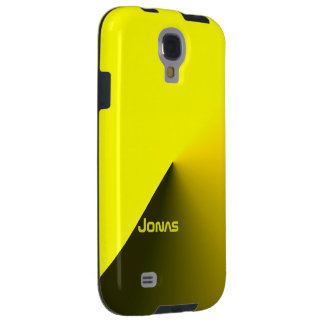 Black and Yellow Samsung Galaxy S4 case of Jonas