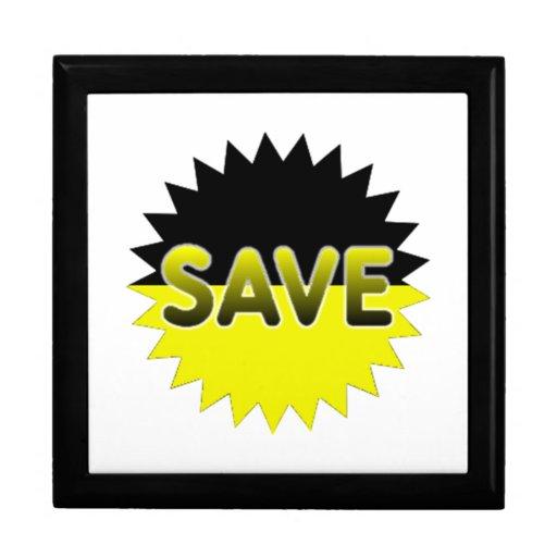 Black and Yellow Save Keepsake Box