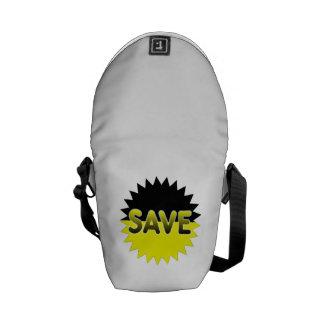 Black and Yellow Save Messenger Bags