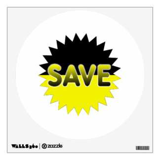 Black and Yellow Save Wall Sticker