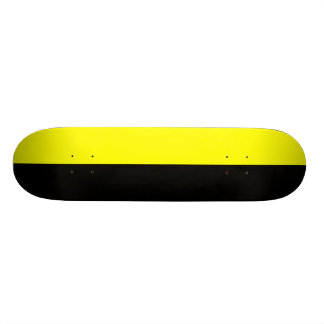 Black and Yellow Split Color Scheme Skateboard Deck