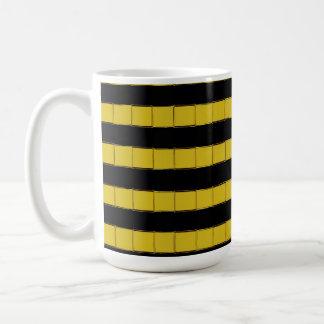 Black and yellow squares on white Coffee Mug