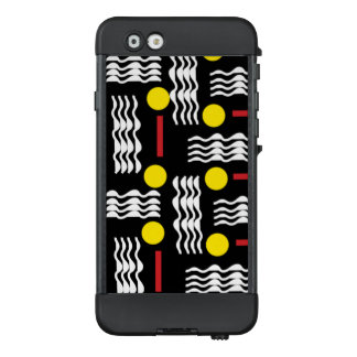 Black and Yellow Squiggles Textile Phone Case
