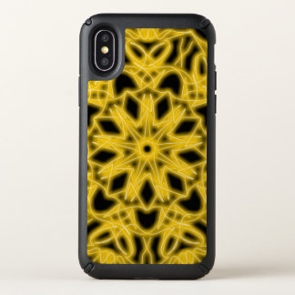 Black and yellow Star burst ~ Speck iPhone X Case