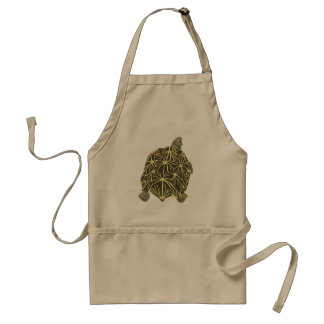Black and Yellow Star Tortoise, painting on aprons