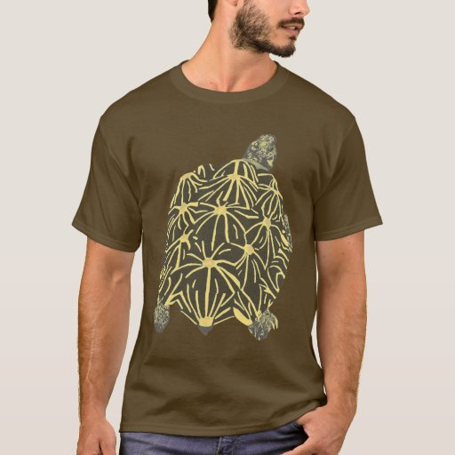 Black and Yellow Star Tortoise Tshirts