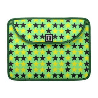 "Black and Yellow Stars, Macbook Pro 13"" Rickshaw MacBook Pro Sleeves"