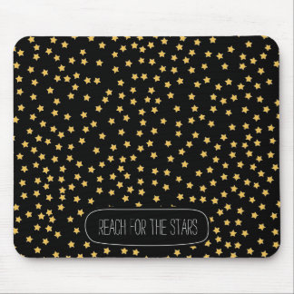 Black and Yellow Stars Mouse Pad