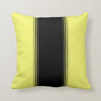Black and Yellow Stripe Throw Pillow
