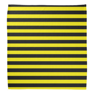 Black and Yellow Stripes Bandana