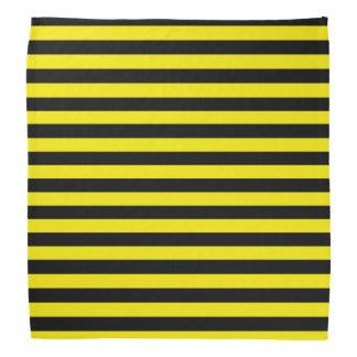 Black and Yellow Stripes Bandana