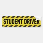 warning caution student driver bumper sticker zazzle. Black Bedroom Furniture Sets. Home Design Ideas