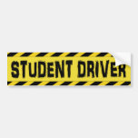Black and Yellow Student Driver Bumper Stickers