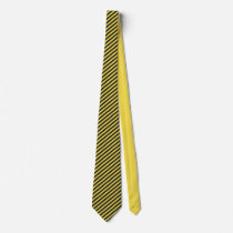 Black and Yellow Thin Striped Neck Tie