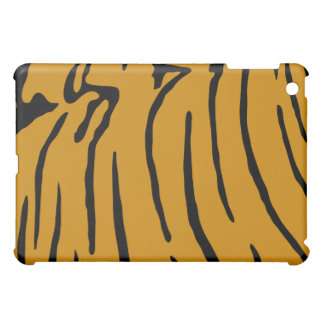 Black and yellow tiger print pattern iPad mini case