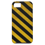 Black and Yellow Traffic Stripe iPhone 5 Case