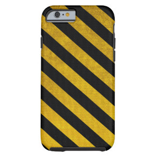Black and Yellow Traffic Stripe iPhone 6 case