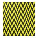 Black and Yellow Wavy Zigzag Bandana