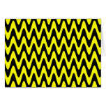 Black and Yellow Wavy Zigzag Greeting Card