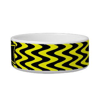 Black and Yellow Zigzag Bowl