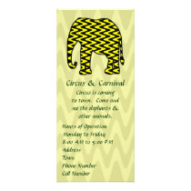 Black and Yellow Zigzag Elephant Rack Card