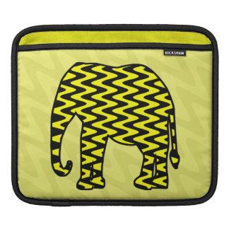Black and Yellow Zigzag Elephant Sleeve For iPads